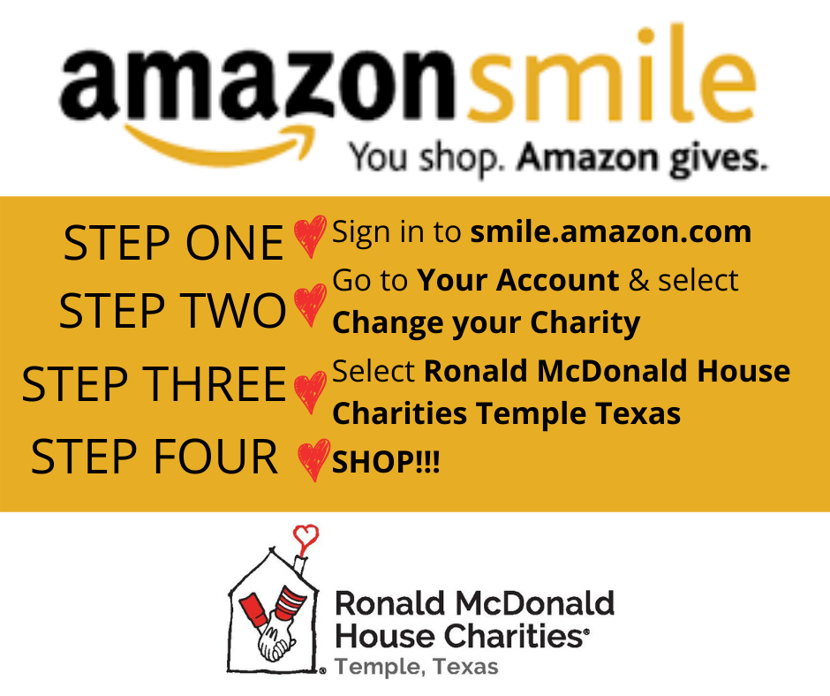 Shop at Amazon Smile | Help RMHC Temple